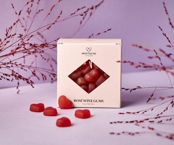 Sweetkynd Hindbær rosévingummi