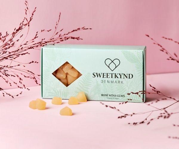 Sweetkynd rosévingummi gaveaeske